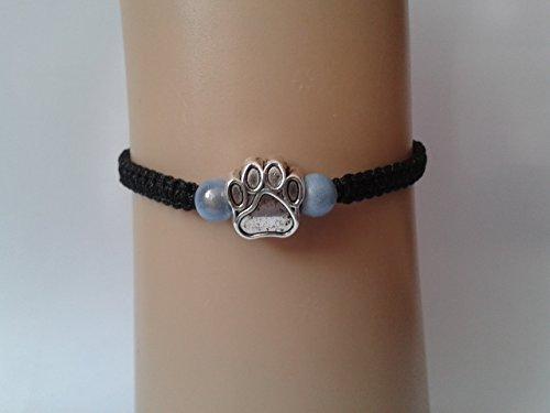 t hellblauen Perlen (Paw Print-armband)