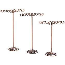 Porte-métal boucle d'oreille Modern Style T stand Boucle d'oreille Organisateurs d'affichage bijoux créatifs étagère Bijoux Bijoux Affichage Rack Placement pour Props Accueil Bronze Solde type