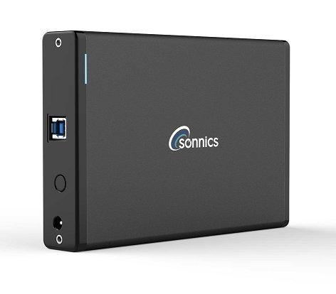 Sonnics 1TB Desktop Externe Festplatte USB 3.0 High Speed für Xbox One, PS4, Windows PC & Apple Mac Schwarz