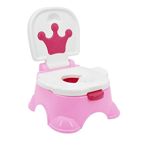 OUTAD Töpfchen Baby Potty Töpfchen-Trainer lerntöpfchen Kindertoilette mit musik,griff für kinder mädchen Junge Von 18 Monaten bis 5 Jahre (Rosa) …