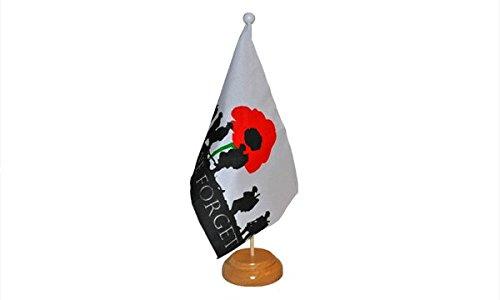 22,9x 15,2cm, dass wir nicht vergessen Armee Soldaten Poppy Remembrance Day Großer Desktop-Tabelle Flagge mit Sockel aus Holz & Pole ideal für Party Konferenzen Büro Display (Desktop-flags)