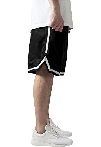 Urban Classics TB243 Herren Shorts Stripes Mesh blkblkwht