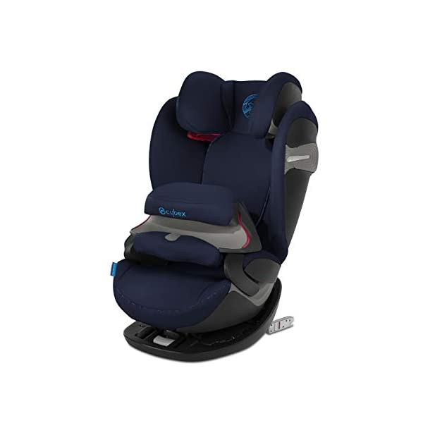 CYBEX Gold Pallas S-Fix 2-in-1 Child's Car Seat, For Cars with and without ISOFIX, Group 1/2/3 (9-36 kg), From approx. 9 Months to approx. 12 Years, Indigo Blue Cybex Sturdy and high-quality child car seat for long-term use - For children aged approx. 9 months to approx. 12 years (9-36 kg), Suitable for cars with and without ISOFIX Maximum safety - Depth-adjustable impact shield, 3-way adjustable reclining headrest, Built-in side impact protection (L.S.P. System), Energy-absorbing shell 12-way height-adjustable comfort headrest, One-hand adjustable reclining position, Easy conversion to Solution S-Fix car seat for children 3 years and older (group 2/3) by removing impact shield and base 1
