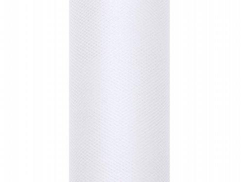9m x 50cm Stoff Hochzeit Tischläufer Deko Floristik (weiß) (Weißes Tüll Blumen Dekoration)