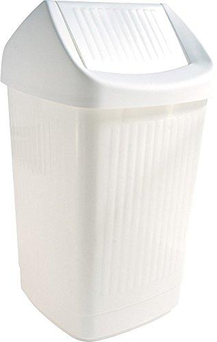 TEKO Kunststoff Sammelbehälter mit Swing, weiß, 36x 36x 65cm (Kunststoff-trinkbecher Bulk)