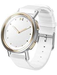 Misfit MIS5022 Path Smartwatch - Reloj de pulsera (acero inoxidable y dorado), color blanco