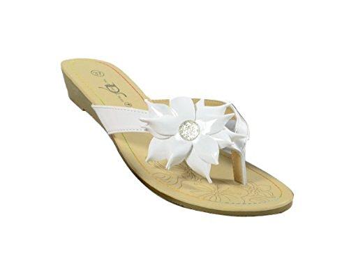 "Waooh - Chaussure - Tong femme ""Mareva"" Blanc"