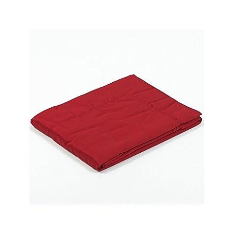 Taie d'oreiller satin 65x65 - Couleur: Rouge