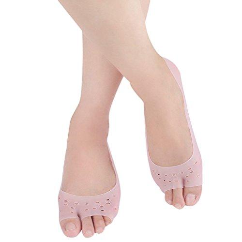Healifty Unsichtbare rutschfeste atmungsaktive Socken Silikon Gel feuchtigkeitsspendende Socken (Pink)