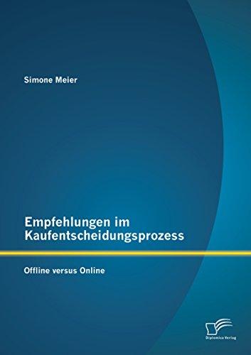Empfehlungen im Kaufentscheidungsprozess: Offline versus Online