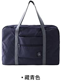 Navy E : Woman Bags 2017 Bag Handbag Fashion Handbags Pvc Waterproof Nylon Foldable Women And Men Luggage Travel...