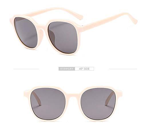 YFDXQY Unisex Metall Sonnenbrille Retro Square Sonnenbrille UV400 Schutz,White