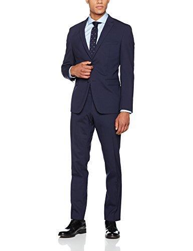 ESPRIT Collection Herren Anzugjacke 996EO2G907, Blau (Navy 400), 52 (Wolle Navy Anzug)