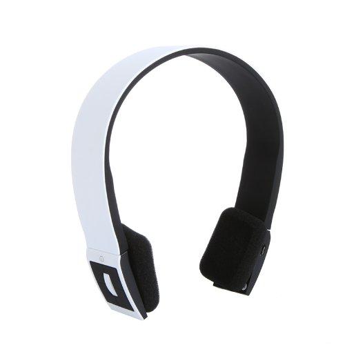 Andoer 2.4G Wireless Bluetooth V3.0 + EDR Auricular con el Mic para el iPhone iPad Smartphone Tablet PC (Blanco)