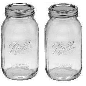 1Ball 2Quart Wide Mouth Canning Jar 2er-Packung farblos 2 Qt Canning Jar