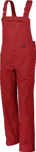 Qualitex Arbeits-Latzhose BW 270 - Größe: 42 - rot (Maler Overall Kostüm)