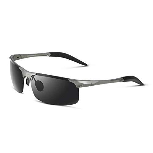 Yuany Sonnenbrille Aluminium Magnesium Sport Polarisierte Trimmbrille Trend UV Drive Driving Brille Herren Schwarz