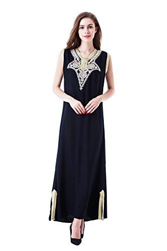 Musulmán islámica abaya / jalabiya kaftan caftán dubai maxi vestido largo para las mujeres ropa vestido de rayón 1621