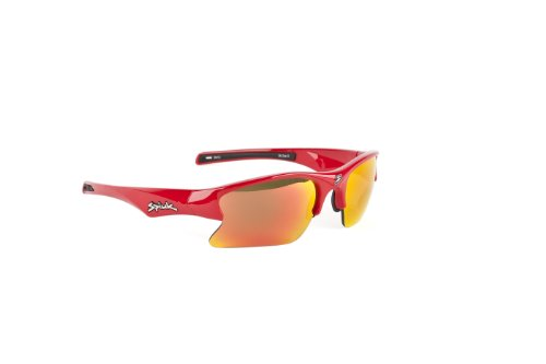 Spiuk Torsion - Gafas de ciclismo unisex, color rojo