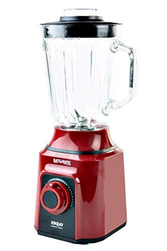 Batidora Americana de vaso de cristal fundido termo resistente y 4 cuchillas 3D. Batimatic Turbo 500