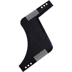 Beito Barbe formant peigne 1PC style modèle peigne cheveux gamme outil barbe pochoir Guide pour la ligne parfaite et bordure-travailler avec n'importe quelle barbe rasoir électrique trimmers (noir)