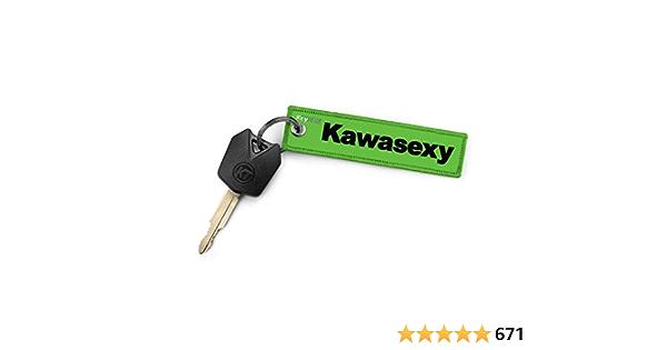 Keytails Premium Qualität Motorrad Schlüsselanhänger Schlüsselring Kratzfest Ideal Für Ihr Kawasaki Motorrad Kawasexy Auto