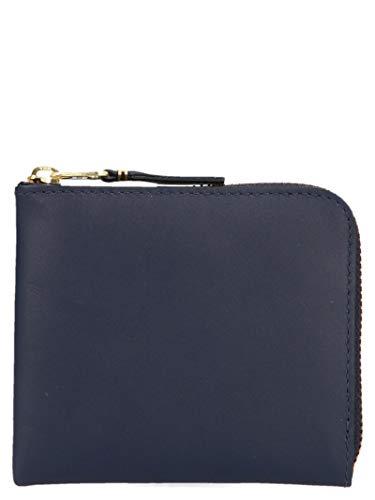 Comme des Garçons Herren Sa3100navy Blau Leder Brieftaschen -