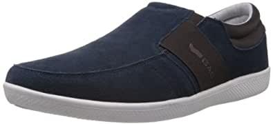 Gas Men's New Posh Navy and Brown Casual Boat Shoes - 10 UK