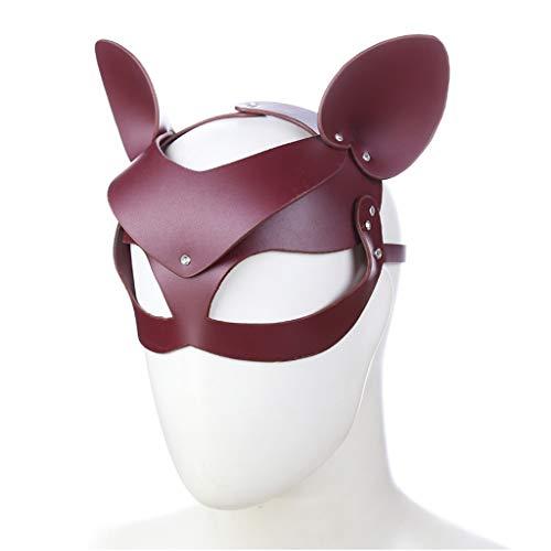 es Kitz, braunes Kitz-Form-Augenbinden Eyeshade-Paar-Flirt-Produkt-erwachsenes Spiel spielt Männer und Frauen-Stadiums-Maske Jeans (Color : Brown) ()