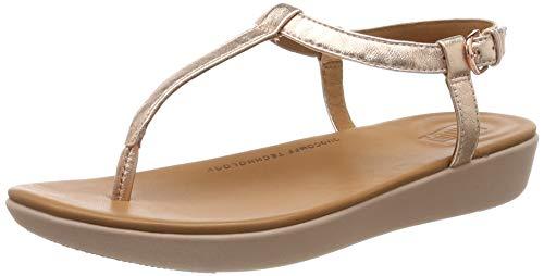 Fitflop Damen Tia Toe-thong Sandalen, Pink (Rose Gold 323), 37 EU Gold Thong Schuh