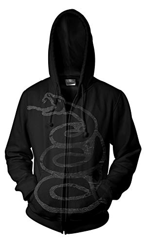 Metallica James Hetfield Black Album Oficial Sudaderas Capucha Hombre (X-Large)