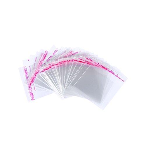 Klar Kunststoff Taschen, 4x 6cm Cello Taschen wiederverschließbaren dekorativen Wrappers–200Stück für Home und Schmuck Teile (Candy-wrapper-schmuck)