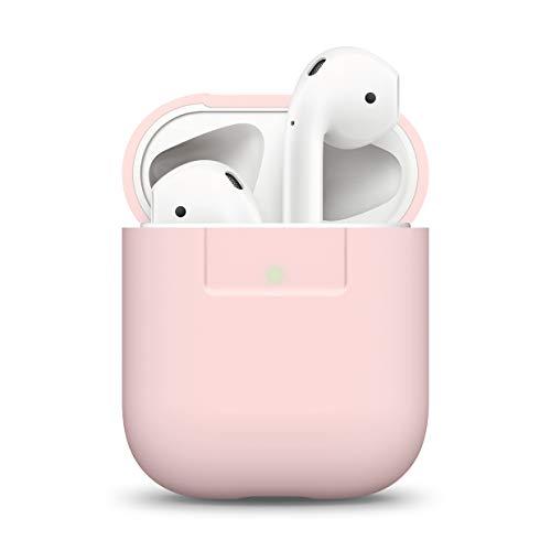 elago Silikonhülle Kompatibel mit Apple AirPods 1 & 2 (LED an der Frontseite Sichtbar) - [Unterstützt kabelloses Laden] [Stoßfeste Schutzhülle] [Perfekt Passt Hülle] - Rosa