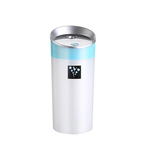 Preisvergleich Produktbild Hansee KFZ-Luftbefeuchter, Mini-Anionen, Fassungsvermögen 300ml, 2 Stunden Laufzeit, automatische Abschalt- und Startfunktion, USB-Ladegerät