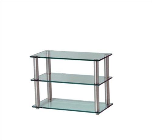 Frosted Glas-tv-ständer (Gem Shallow 3SHELF Frost/COL HiFi/TV Ständer 600x 300)