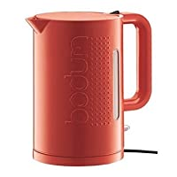 Bodum 11138294UK Bistro Electric Water Kettle 1.5 Litre capacity Hinged lid Scale filter Voltage: 220-240 (Volts) 1850-2200 watts - Red