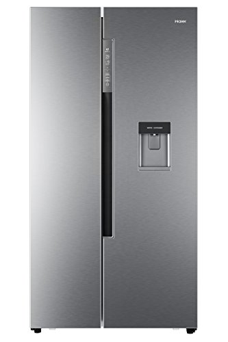 Haier HRF-522IG7 Side-by-Side/A++ / 179 cm Höhe / 332 kWh/Jahr / 331 L Kühlteil / 169 L Gefrierteil/Wasser- und Eiswürfelspender/Festwasseranschluss/Silber