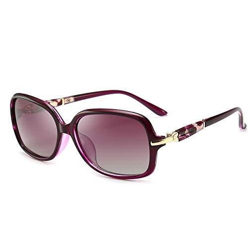 Thirteen Polarisierte Sonnenbrille Weiblich Elegant Kleines Gesicht Kleinen Rahmen Sonnenbrille, Kann Für Dekorative Reisen Fahren, UV-Schutz Verwendet Werden. (Color : Purple)