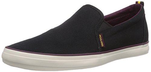 JACK & JONES - JJBrado Canvas Loafer Black, Sneakers  da uomo, nero(schwarz (black)), 41