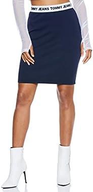 Tommy Hilfiger Girl's Dw0Dw04625-Navy Blue Tommy Hilfiger A Line Skirt For Girls - Multi C