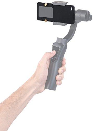 Somikon Zubehör zu Gimbals: Action-Cam-Adapter für 3-Achsen-Hand-Stabilisator GS-100.bt (Actioncam Halter)