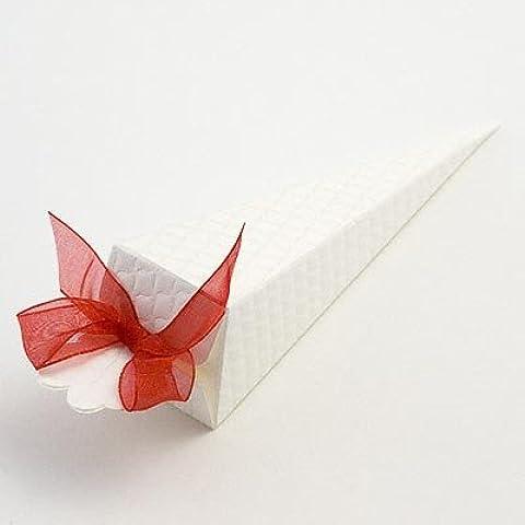 Cono de favores de la boda - Trapunta (PK 10 en embalaje plano, sin decoraciones)