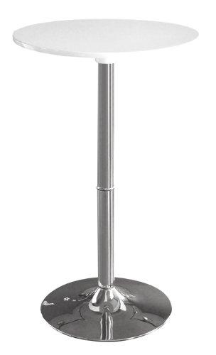 SixBros. Stehtisch Rund Bistrotisch Weiß M-80402-H/161