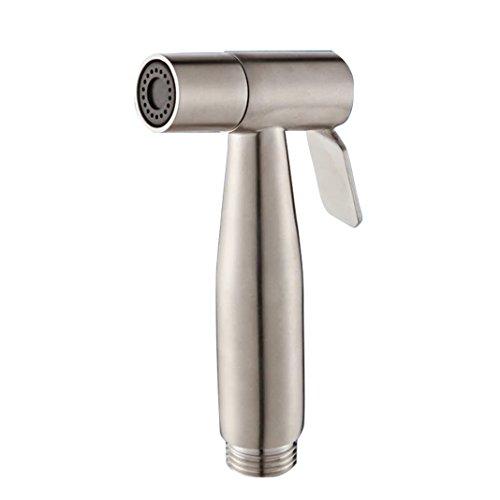 Waschbeckenbrause Edelstahl, Asnlove Shower Bidet Handbrause Tuch Windel für WC-HAND Gehalten Bidet Sprayer, Chrom Poliert 14*5*2.7cm