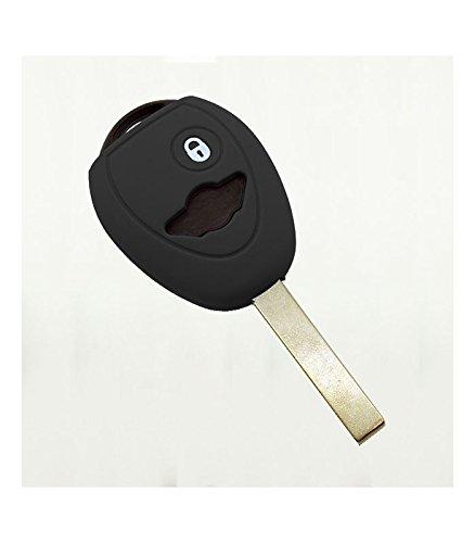 Housse De Clé Silicone 2 bouton Mini Noir