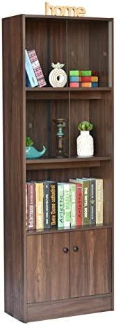DeckUp Cove Book Shelf/Display Unit (Walnut, Matte Finish)