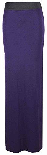Neue Damen Gypsy Langes Jersey Maxi Kleid Damen Gypsy Rock Plus Größen 16–26 Violett