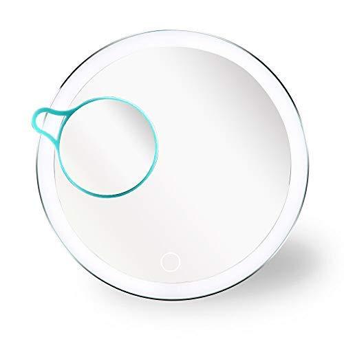 gel mit LED Beleuchtung, Touchscreen Beleuchtete mit 3X Vergrößerung Make-up-Spiegel USB Stecker Schminkspiegel für Schminktisch, Reise, Badezimmer ()
