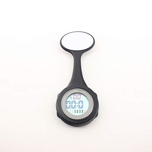 CYLSK Krankenschwester Uhr Pflege medizinische Brosche Multifunktionssilikon elektronische Hängeuhr Digitalanzeige,A (Elektronische Krankenschwester)