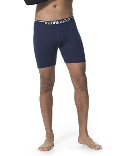 Icebreaker Herren Boxershorts Anatomica Long Boxers admiral/white